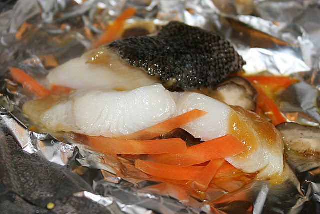 Miso gindara - codfish in parcel