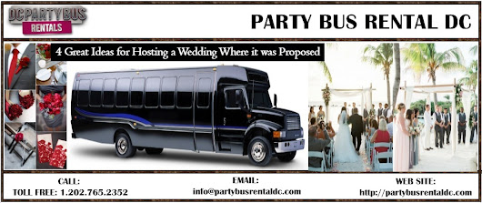 4 Great Ideas for Hosting a Wedding Where it was Proposed | dcbusrental