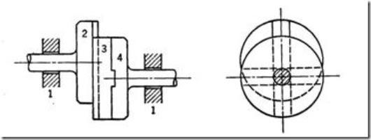 Machine Drawing Oldham Coupling