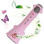 Iuhan Wireless Karaoke Microphone For Kids Speaker Birthday Gifts For Girls Boys