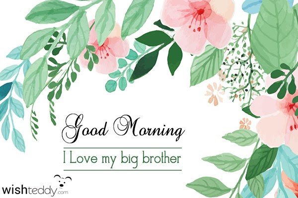 Good Morning I Love You My Big Brother