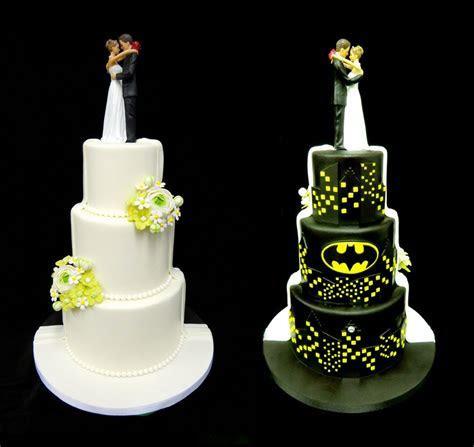 Batman Wedding Cake   TWO TONED CAKE   SPLIT CAKE   YouTube