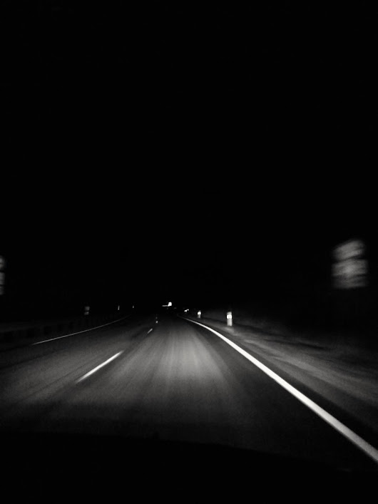 #Claudio #night #road #nowhere #lost #highway #country #light #blackandwhite #bw