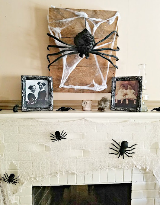 Reclaimed Wood Halloween Wall Hanging - She Buys, He Builds