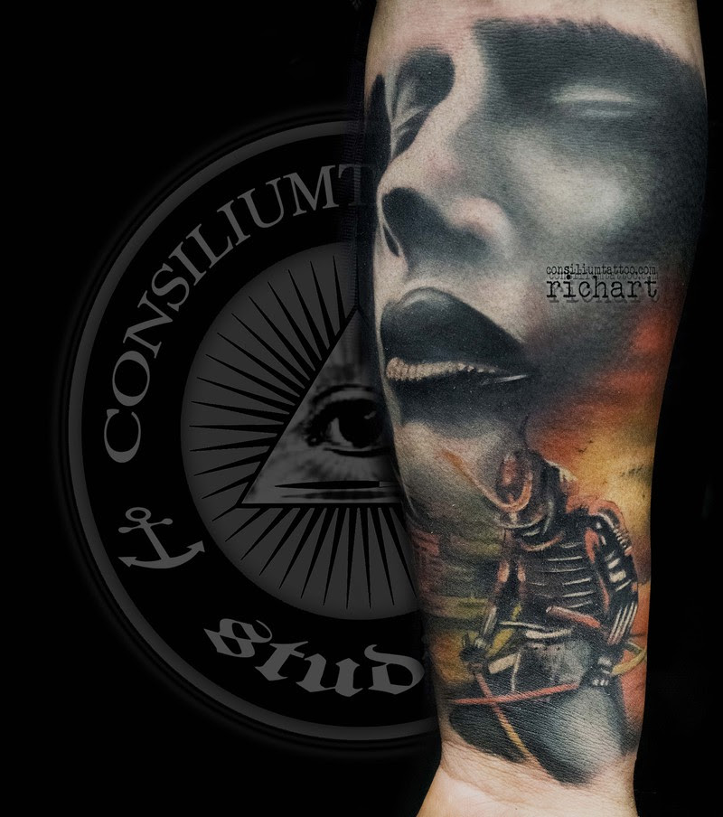 Tatuaje En El Brazo Para Nuestro Cliente Francis Un Samurai Con Un