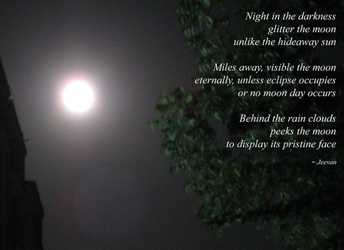 Haiku on moon