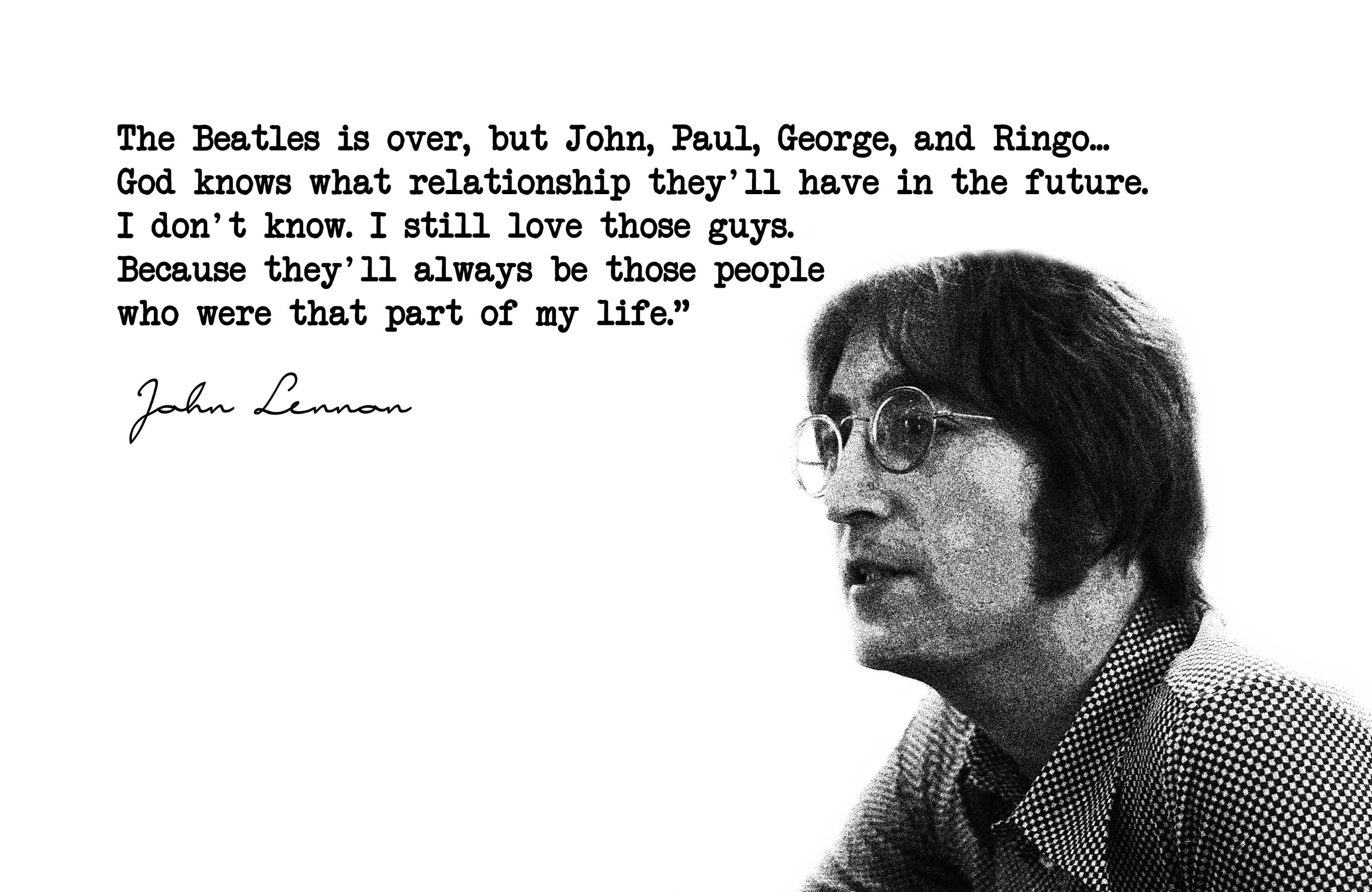 Great John Lennon Quote Beatles