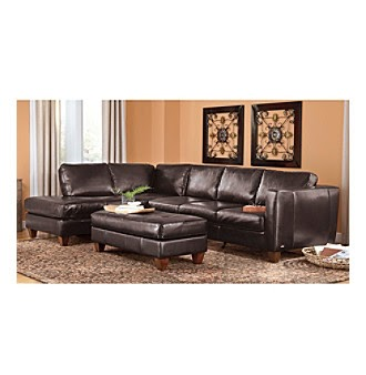 Natuzzi editions terni brown multi piece leather sectional for 8 piece living room furniture