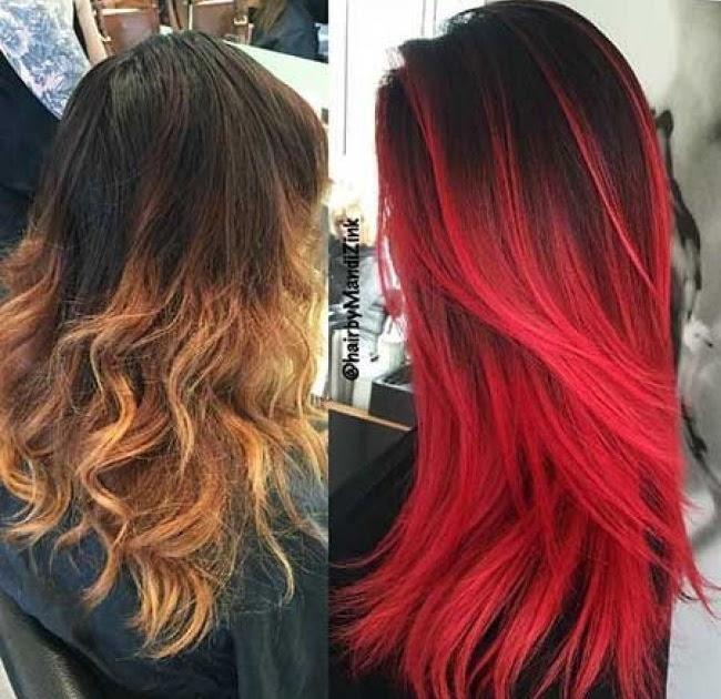 Rot braune ohne haare blondieren färben Haare Blau