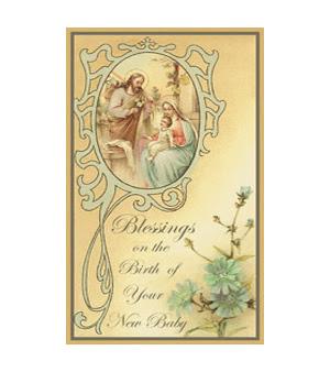 New Baby Blessings Baby 003 Saints Galore Catholic Publishing