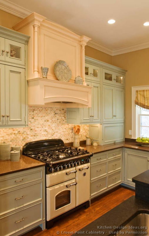 Two tone cpb green antique white wood hood vintage oven - and ...