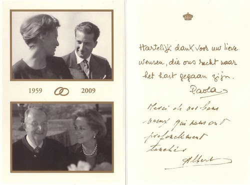 King Albert and Queen Paola of the Belgians 1959 and 2009