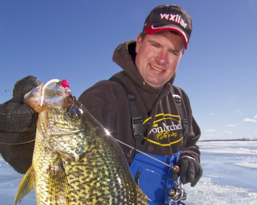 Ice Fishing Crappies a Few Feet Under the Ice - Ice Fishing Reports - Wisconsin, Illinois, Michigan, Canada, South-North Dakota, & Iowa