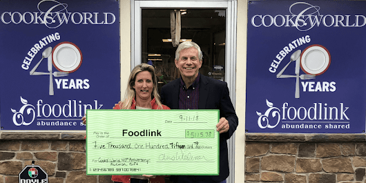 5K Gift to Foodlink During Cooks' World 40th Anniversary Party