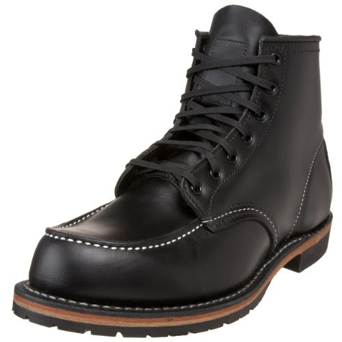 Red Wing Heritage Men's 6-Inch Beckman Moc Toe Boot,Black Featherstone,9 D US