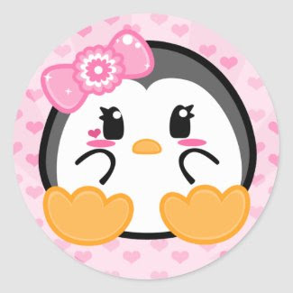 Baby Penquin - Girl Sticker