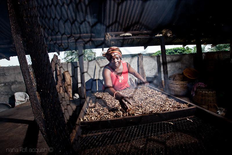 Ghanaian Women working hard