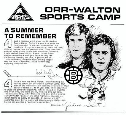 Orr Walton Sports Camp ad, Orr Walton Sports Camp ad