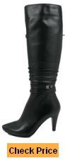 Bodycon dress knee high boots narrow calves vietnam