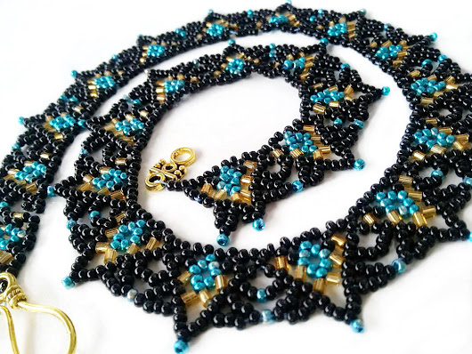 Free pattern for necklace Celestial