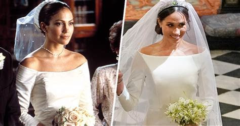 Meghan Markle's dress looked like J.Lo's from 'The Wedding