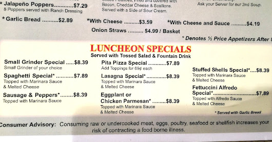 Delicious Lunch Specials at Palm Harbor's Fairway Pizza - Available Daily