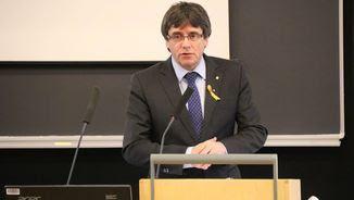 Puigdemont vol delegar el vot, però la mesa no ho tramitarà avui (ACN)