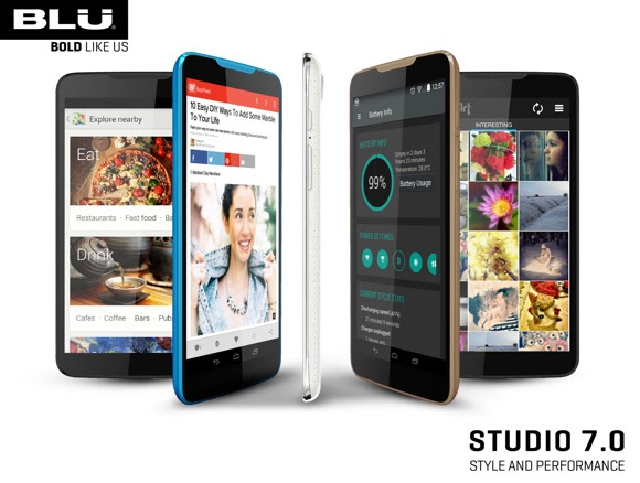 BLU Studio 7.0 goes official with large screen and low price