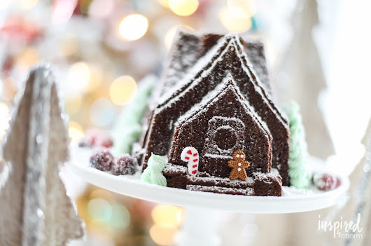 Sugared Cranberries and Gingerbread House Cake - Inspired by Charm