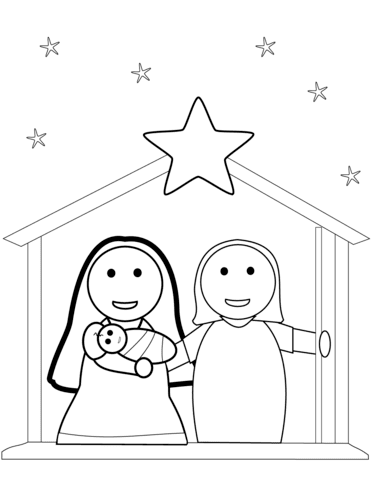 730 Top Coloring Pages Christmas Nativity Images & Pictures In HD