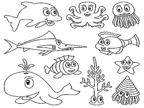 ocean animals coloring pages kids crafts pinterest