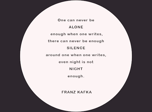 Franz Kafka on writing and silence