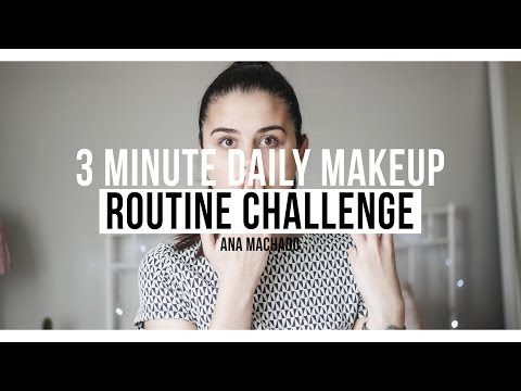 3 Minute Daily Makeup Routine Challenge - Nazemar