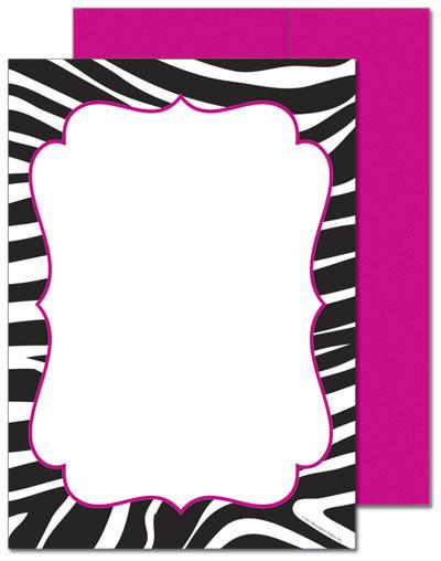 Blank Leopard Print Invitations - ClipArt Best