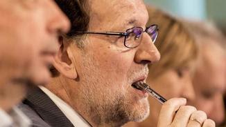 Mariano Rajoy, aquest dijous, durant una convenció del PP a Palma (EFE)