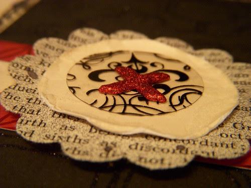 forever Love handmade embellishment close up