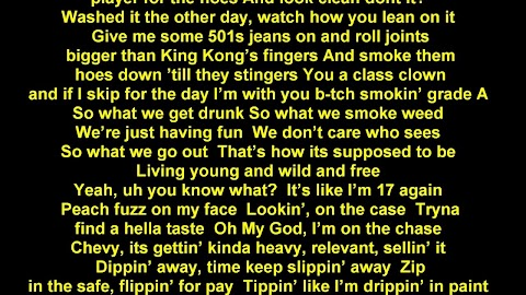 Living Young And Wild And Free Lyrics Youtube