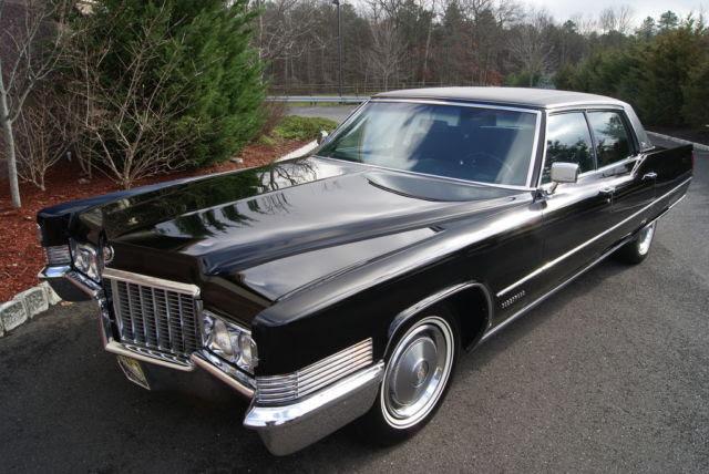 1970 Cadillac Fleetwood Brougham Triple Black Collector ...