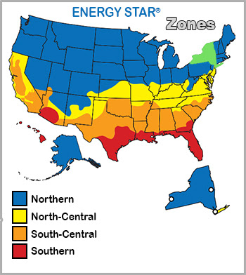 Energystar zones Northern