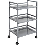 Honey-Can-Do International CRT-03091 3-Tier Metal Rolling Cart Gray - 19 x 13.75 x 31 in. - Pack of 3