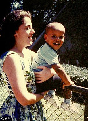 Barack Obama with his mother Ann Dunham