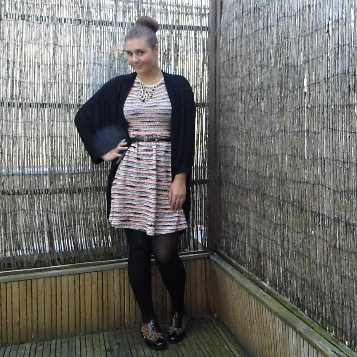 Chloe Asos Stripe Skater Dress