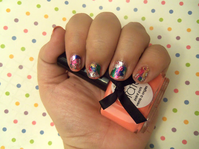 The Very colourfoil manicure by Ciatè 1