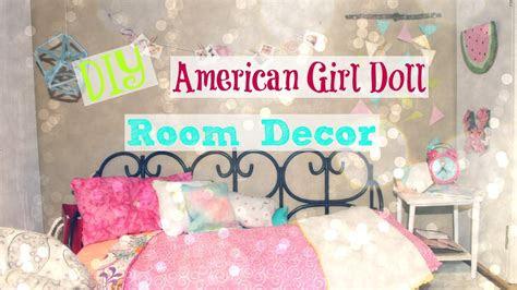 diy american girl doll room decor  youtube