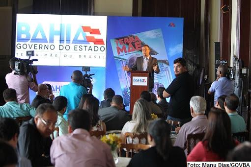 Rui Costa falou aos jornalistas no  evento nesta segunda, 21, no Palácio do Rio Branco, em Salvador