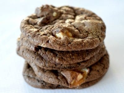 Chocolate Snickers Cookies - Create Bake Make