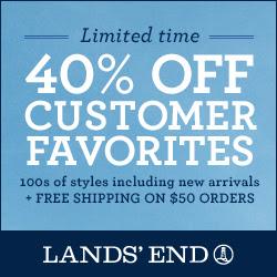 Lands' End 40% off Select
