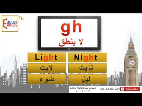 كيف تقرا باللغة الانجليزية - Ch,Sh,Ph,gh,Kn,Ture,Tion,ison