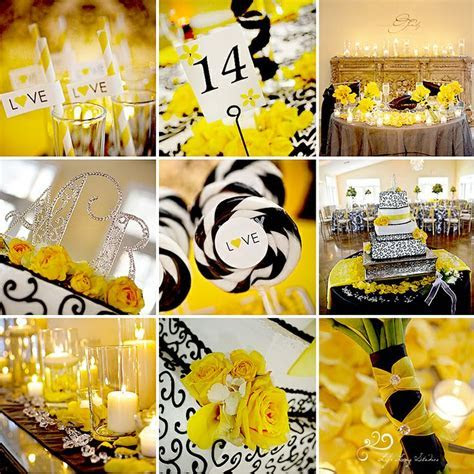 282 best images about Black & yellow weddings/reception on