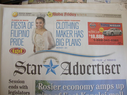Even the newspaper says it's Aloha Friday!